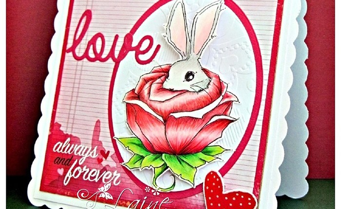 Bunny in a Rose