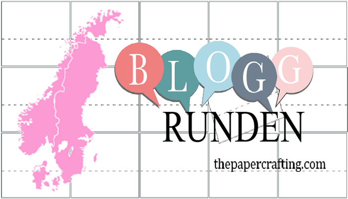 Plukket ut i Bloggrunde 49 hos The Papercrafting!