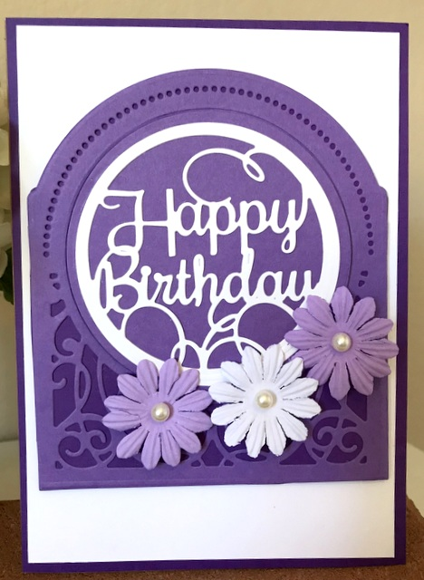 Grand Dome 3D Card and Layered Happy Birthday Spellbinders Card