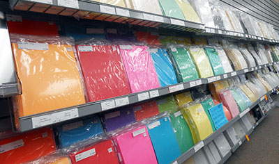 Office paper, many colors & styles