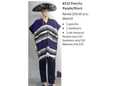112 Poncho Purple & Black