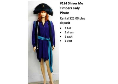 124 Shiver Me Timbers Lady Pirate