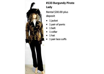 133 Burgundy Pirate Lady