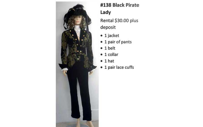 138 Black Pirate Lady