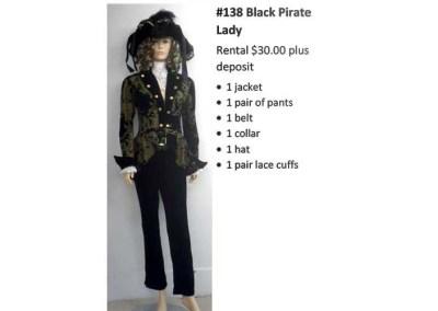 138 Black Pirate Lady