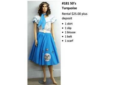 181 50's Turquoise
