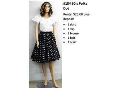 184 50's Polka Dot