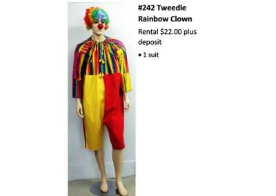 242 Tweedle Rainbow Clown
