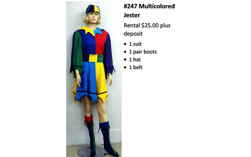 247 Multicocored Jester