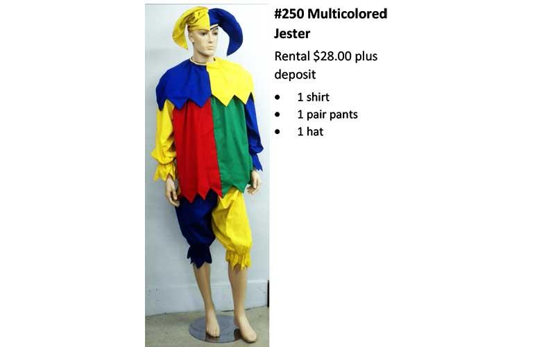 250 Multicolored Jester