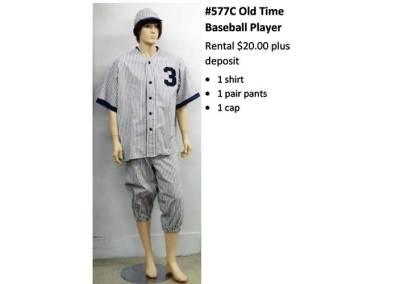 577C Old Time Baseball Player