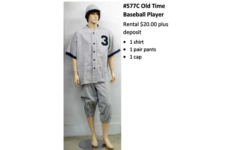 577C Old Time Baseball Player