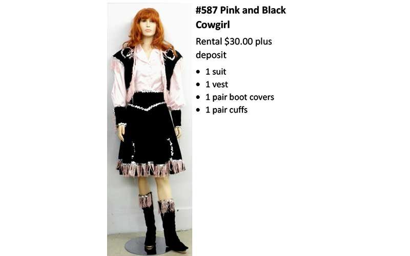 587 Pink & Black Cowgirl
