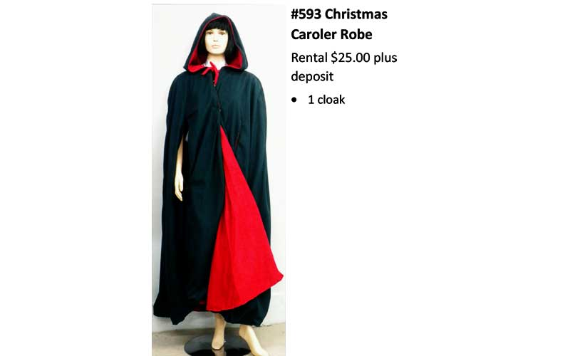 593 Christmas Caroler Robe