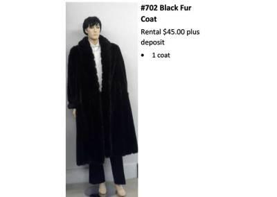 702 Black Fur Coat