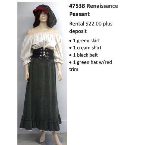 753B Renaissance Peasant