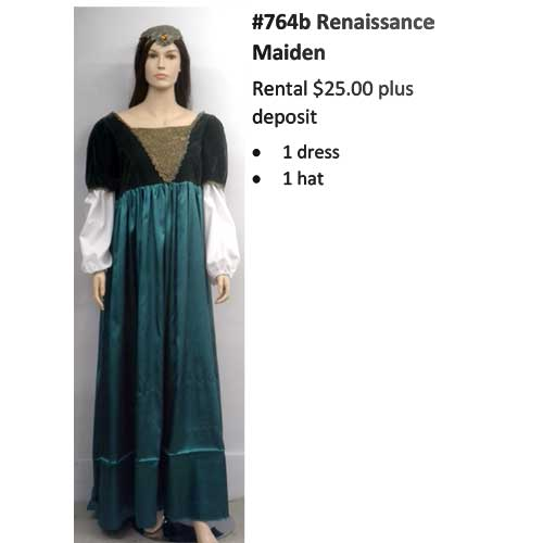 764B Renaissance Maiden