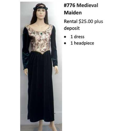 776 Medieval Maiden