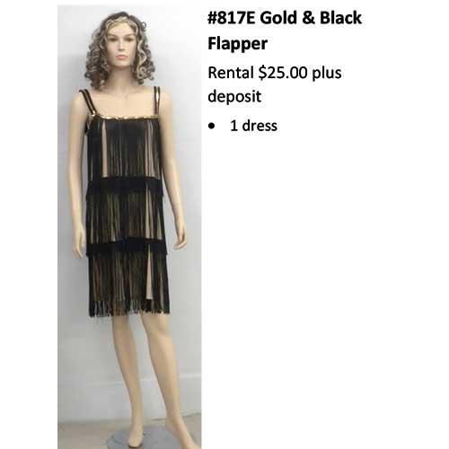 817E Gold & Black Flapper
