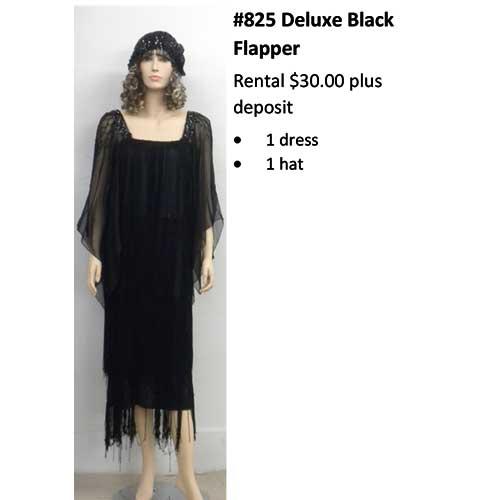 825 Deluxe Black Flapper