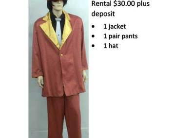 834 Coral & Gold Zoot Suit