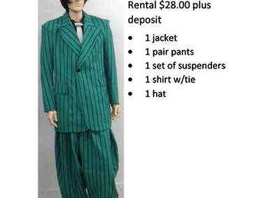 835A Green Zoot Suit