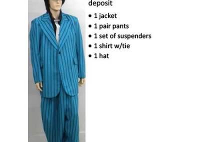 836 Blue Zoot Suit