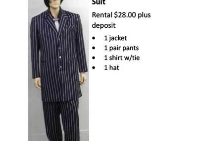 837A Purple & White Striped Zoot Suit