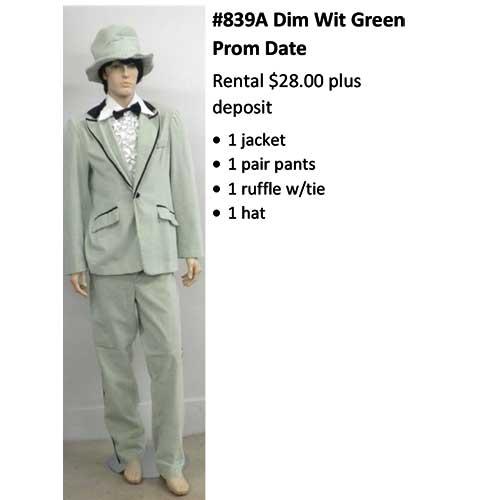 839A Dim Wit Green Prom Date