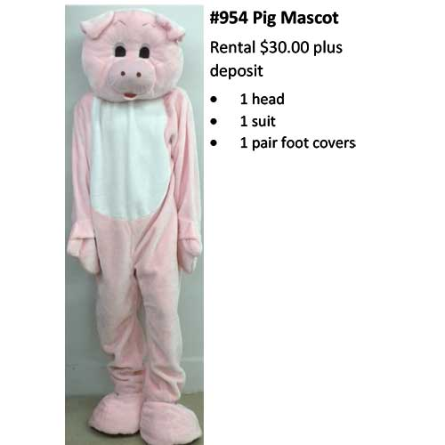 954 Pig Mascot