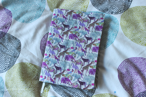 finished bound notebook