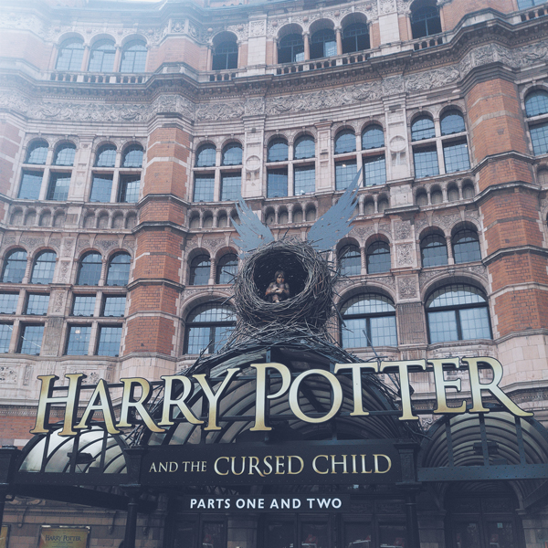 image shows the Palace theatre where Harry Potter and the Cursed Child play shows
