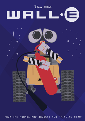 Art deco inspired version of the Wall.E poster.