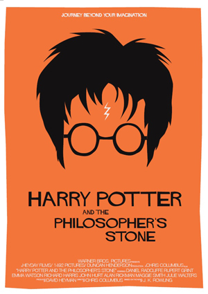 Saul Bass inspired Harry Potter poster.