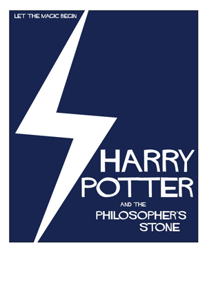 Saul Bass inspired version of a Harry Potter poster.