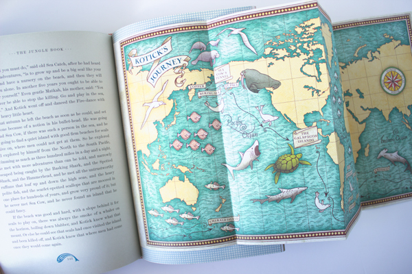illustrated map from jungle book