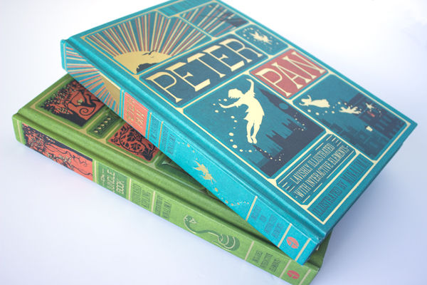 illustrated minalima editions of peter pan and the jungle book