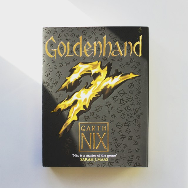 book cover of Goldenhand by Garth Nix