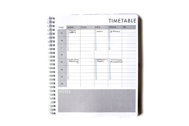 paperchase study planner timetable page