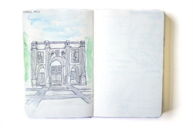 london urban sketching marble arch