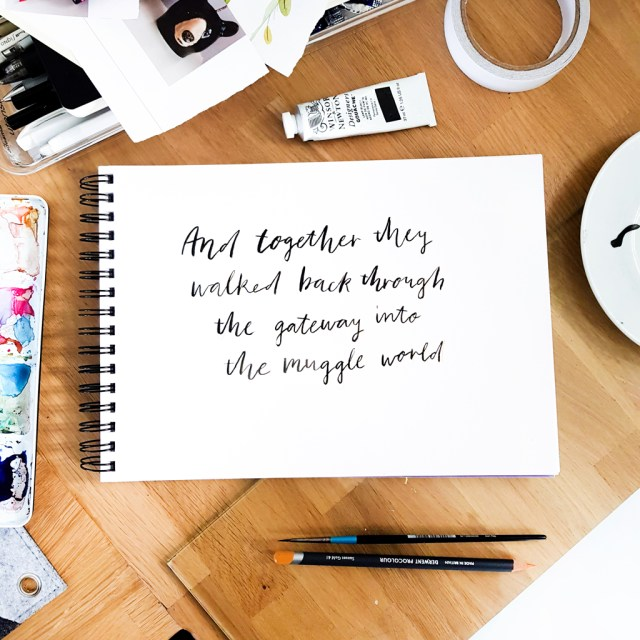 hand lettered art featuring quote from harry potter