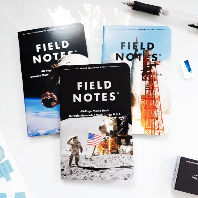 Field Notes memo set with NASA images on the cover