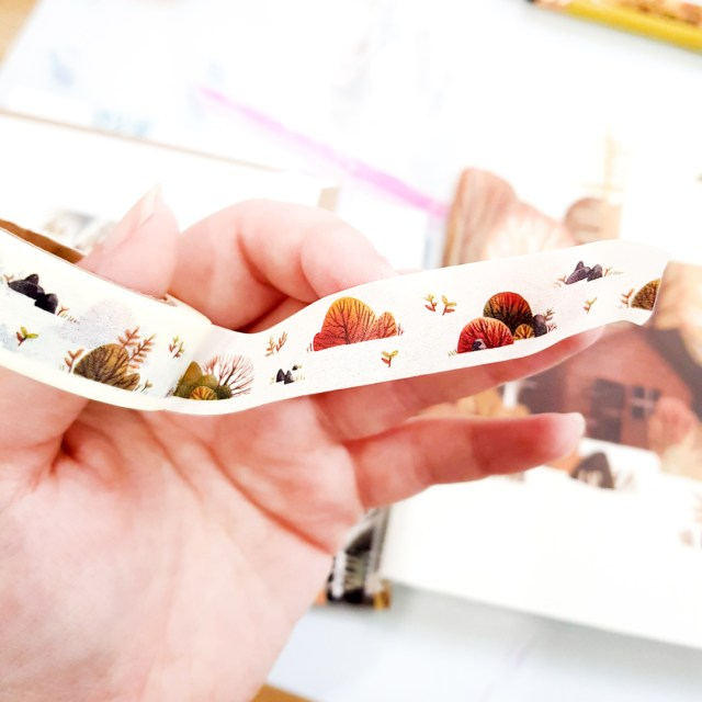 washi tape featuring illustrations made by iraville
