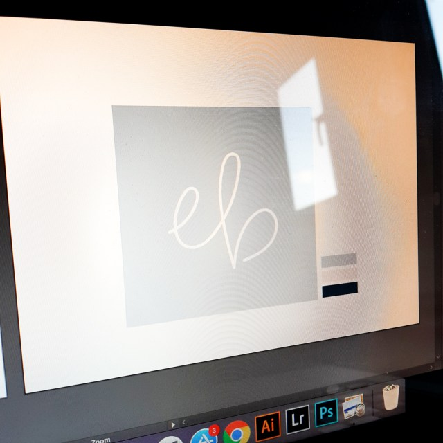 personal typographic signature displayed on computer screen