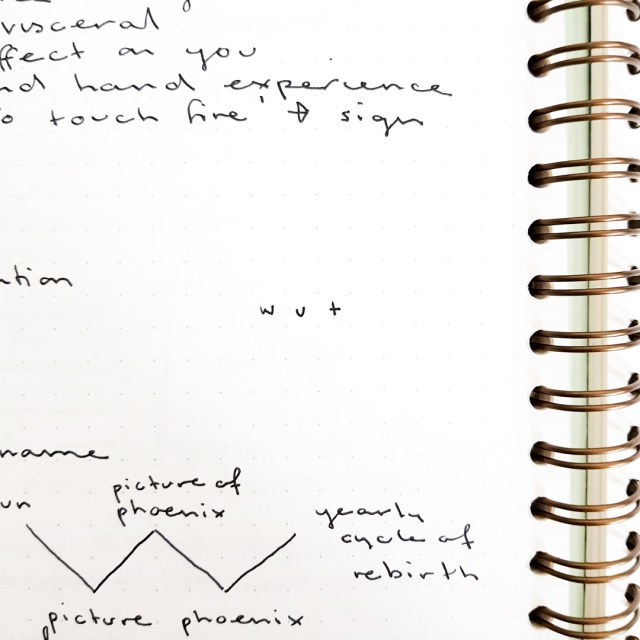 page of lecture notes