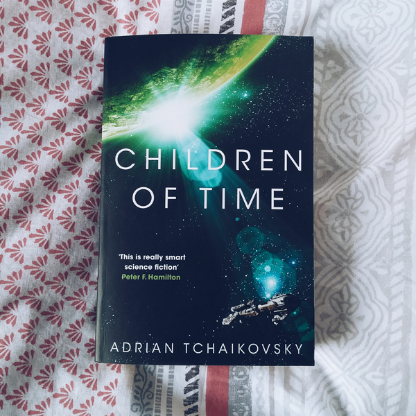 Book cover of Children of Time by Adrian Tchaikovsky.