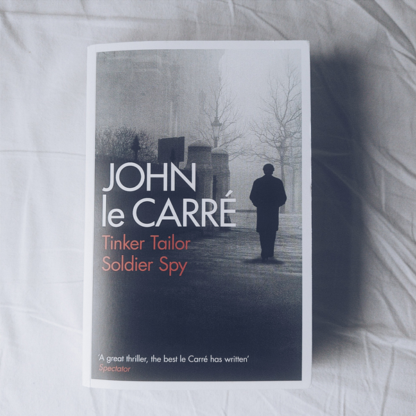Book cover of Tinker, Tailor, Soldier, Spy by John le Carre.