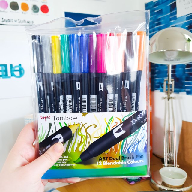 12 pack of Tombow Dual Brush Markers.