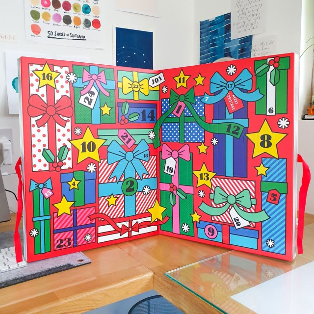 Inside the Paperchase advent calendar.