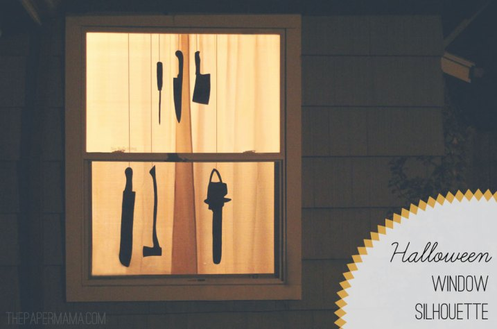 Halloween Window Silhouette // thepapermama.com